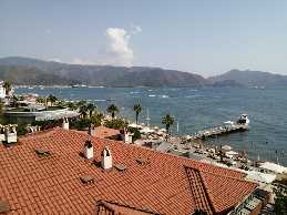 specious luxury apartment with sea view in marmaris